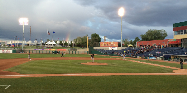 watching the Reno Aces in 2015