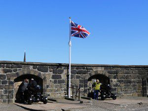 the UK flag flies over Edinburgh Castle - for now