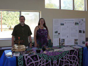 """representing CUUPS and Paganism at the """"Exploring Faiths"""" exhibit - September 2011"""