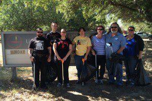 Denton CUUPS Adopt-a-Spot cleanup, October 2015