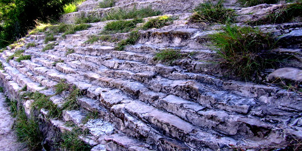 steps at Dinosaur Valley State Park