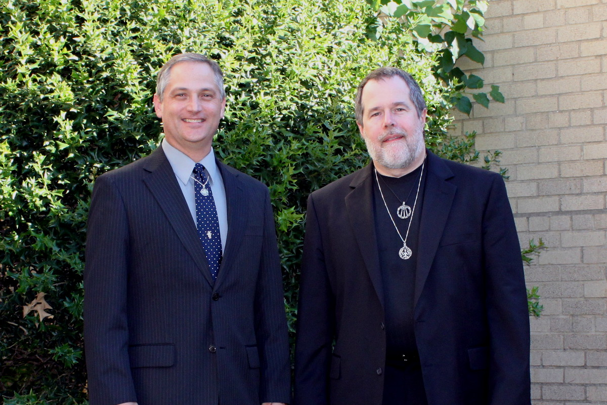 with Wiccan priest David Sparks at an interfaith prayer event - 2011