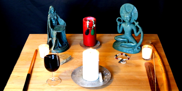 altar and offerings