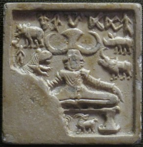 Yogi._Mold_of_Seal,_Indus_valley_civilization