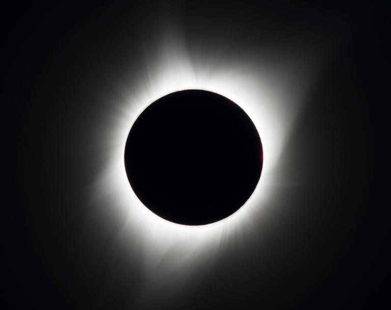 August 21 eclipse above Madras, Oregon – photo credit: NASA/Aubrey Gemignani