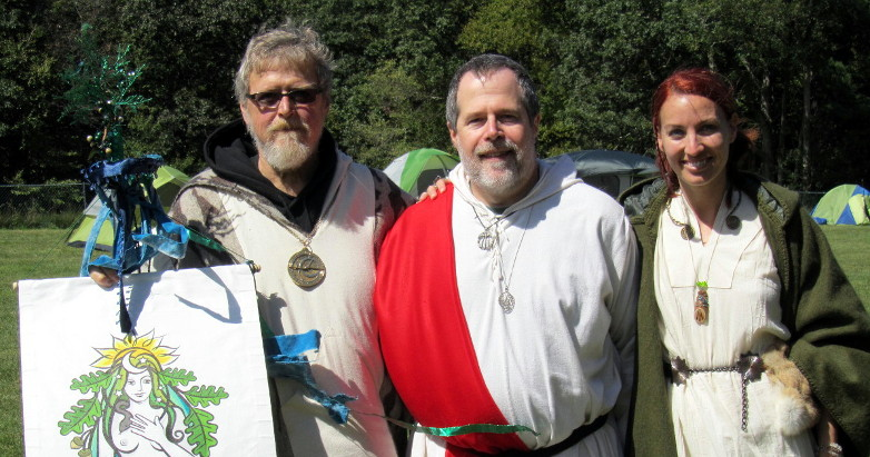 with the late James Bianchi and Kimberly Kirner at the 2012 OBOD East Coast Gathering