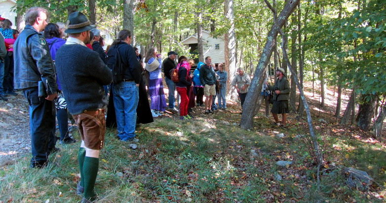 Druid Tree Walk at the 2014 OBOD East Coast Gathering