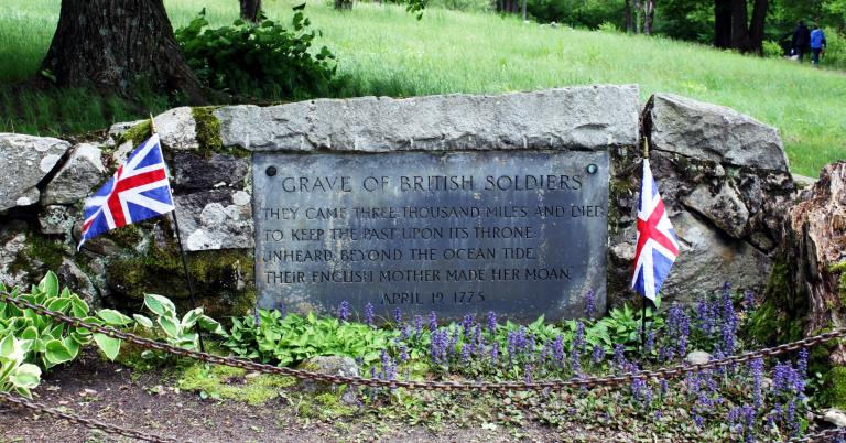 Memorial to British Soldiers at Concord Massachusetts