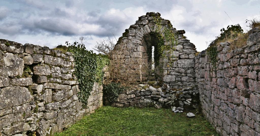 ruined church in Gleninagh, Ireland - 2018