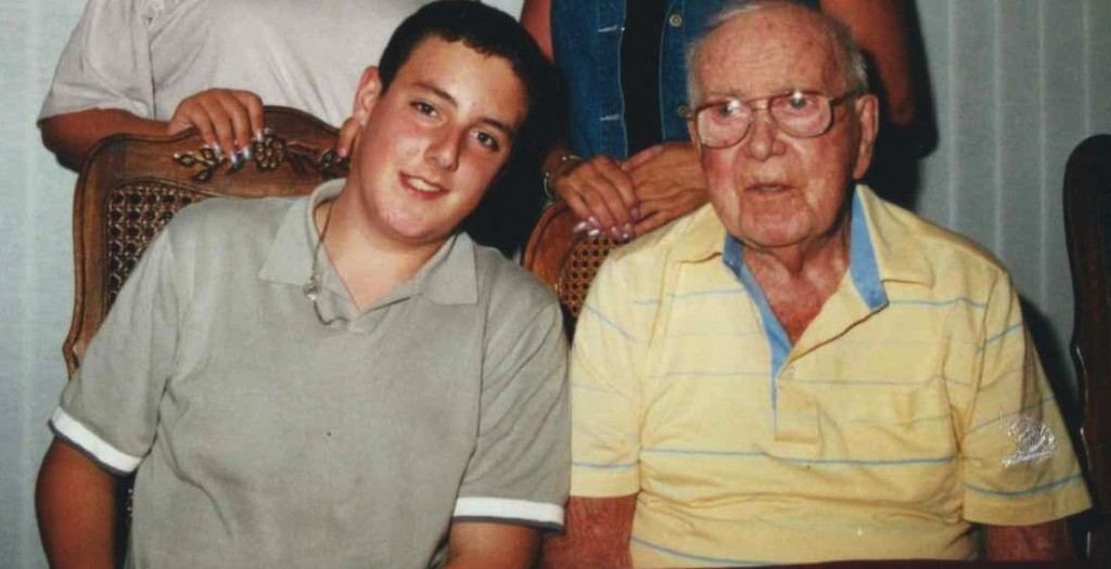 A much younger and thinner version of myself with Gramps