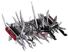 "A Swiss Army knife with dozens of crazy ""blades"""
