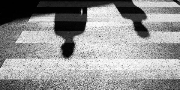 Shadows on crosswalk