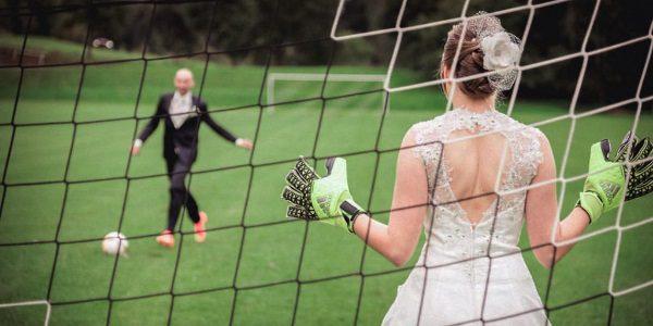 soccer wedding