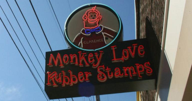 monkey love rubber stamp sign and coincidences point to god?