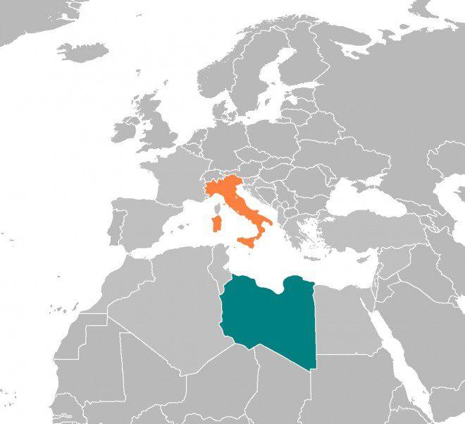 Italy and Libya. Photo Source: Wikimedia Commons