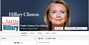 Faith Voters for Hillary on Facebook.