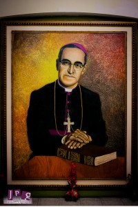 A portrait of Romero at the Catholic Basilica in San Salvador.