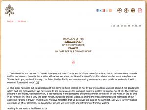 http://w2.vatican.va/content/francesco/en/encyclicals/documents/papa-francesco_20150524_enciclica-laudato-si.html