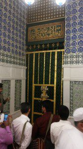 Mosque of Prophet Mohammed in Madinah: Access for men to the house of the Prophet