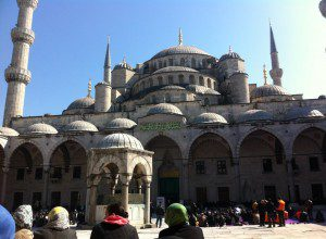 Photo of the closest space to my Algerian mosques' yards experience; the Blue Mosque, Turkey/ Nadia Bousmina