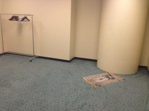 Prayer room at congress centre