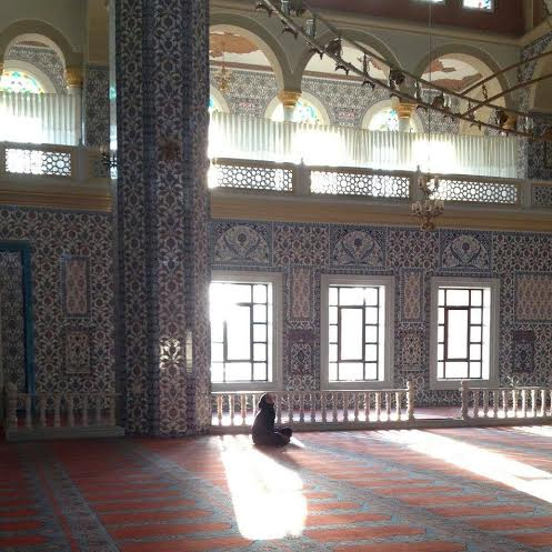 The author, at Nizamiye Cami in Johannesburg, South Africa
