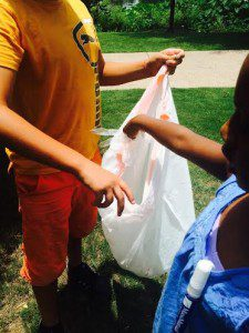 We picked up litter at the neighborhood park/Yasmin Turk Diallo