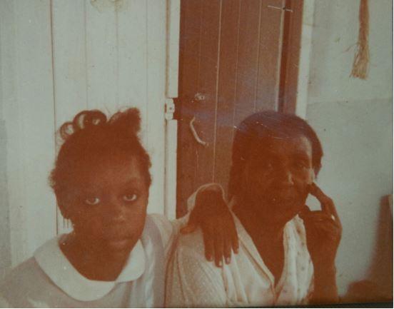 Hana Baba with her maternal grandmother, Amouna El-Salahi Credit: Hana Baba