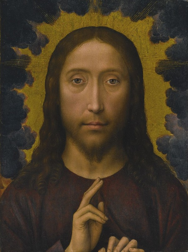 """Christ Blessing"", Hans Memling, via Wikimedia Commons"