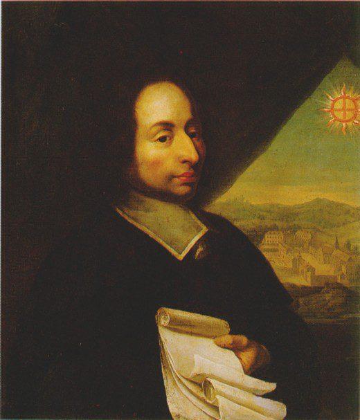Blaise Pascal, circa 1660, artist unknown, via Wikimedia Commons