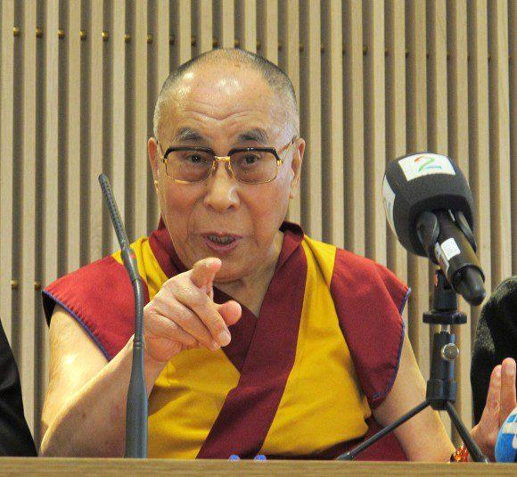 The Dalai Lama, 2014, by Senterpartiet via Wikimedia Commons