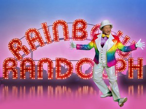 A picture of Rainbow Randolph from Death to Smoochy.