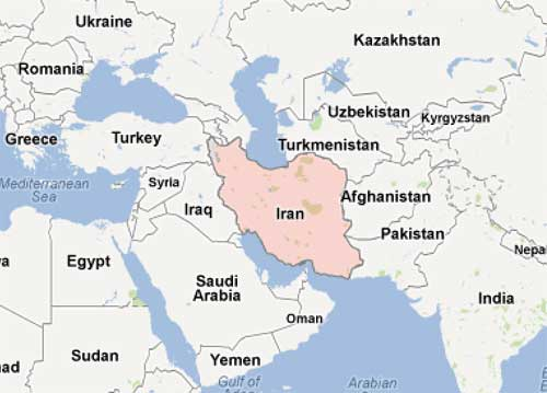 Map of the Middle East.