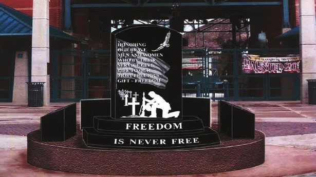 Picture of the freedom is never free monument.