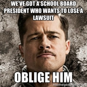 oblige him