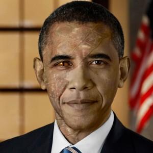 Reptilian Obama...
