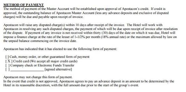 DFW Marriott contract