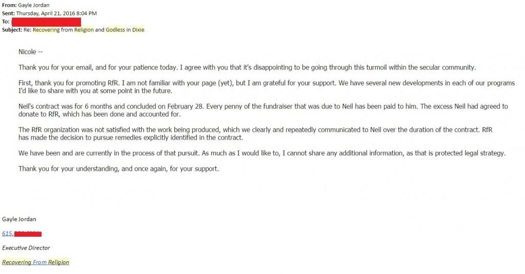 April 21 email 2