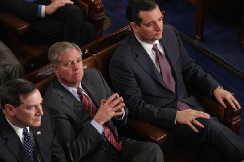 Senators LIndsey Graham and Ted Cruz, photo courtesy of Wikimedia Commons and CNN