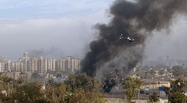 Destruction over Baghdad.By U.S. Air Force Photo by Master Sgt. Michael E. Best [Public domain], via Wikimedia Commons