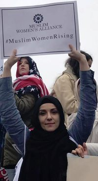 Muna Odeh, one of the MWA leaders who organized the bus delegation to Washington. Image source: MWA