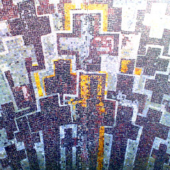Mosaic of many crosses