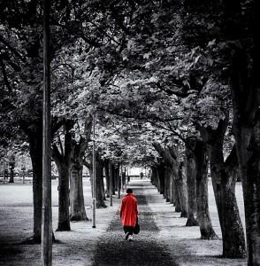 walking red