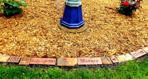 poetry stones placed