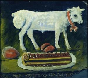 lamb and cake
