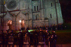 Police in Serried Ranks