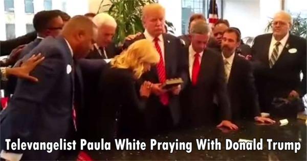 Paula White Praying With Donald Trump
