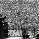 Evangelist Billy Graham preaches one Sunday to more than 40,000 worshipers at the Los Angeles Memorial Coliseum. (UCLA