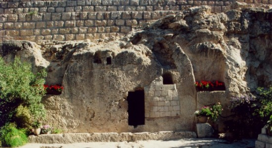 the garden tomb, believed by some to be the scene of the resurrection of Jesus