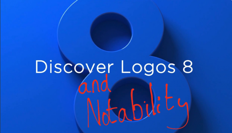 Logos 8 and Notability Bible Software graphic